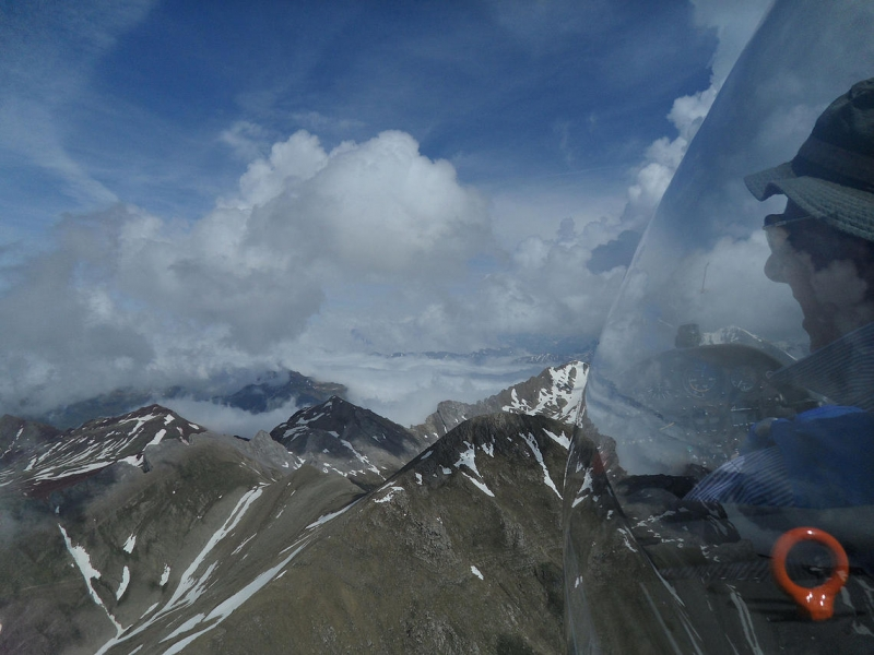 flying in the Pyrenees