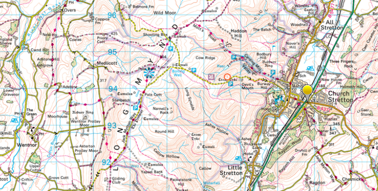 long-mynd map